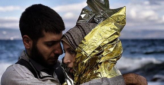 Vluchtelingen op zee